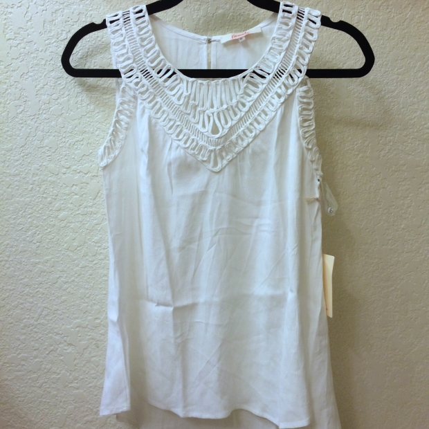 LANDERS LATTICE CROCHET DETAIL TANK