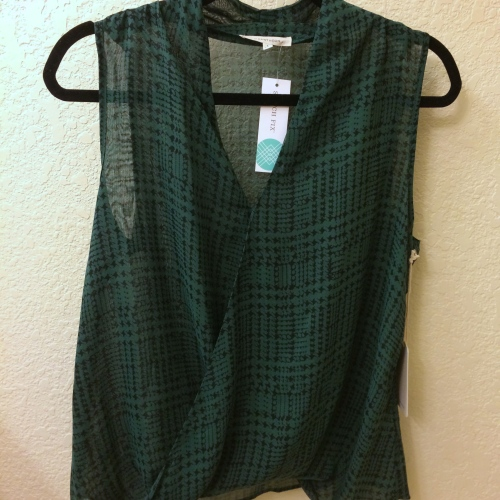 Carson Houndstooth Print Blouse